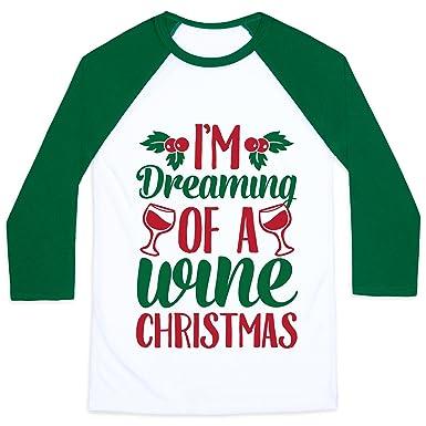 29ef3848 Amazon.com: LookHUMAN I'm Dreaming of A Wine Christmas Mens/Unisex ...