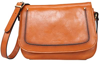 ad1904277309 Amazon.com  Banuce Small Vintage Full Grains Italian Leather Messenger Bag  for Women Cross body Shoulder Bag Ladies Satchel Purse  Shoes
