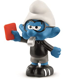 Schleich Smurf Football Soccer Smurf Figure Cake Topper Toy NEW 20806