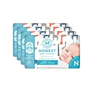 The Honest Company Baby Diapers with TrueAbsorb Technology, Multi-giraffe, Size 0 Newborn, 128 Count