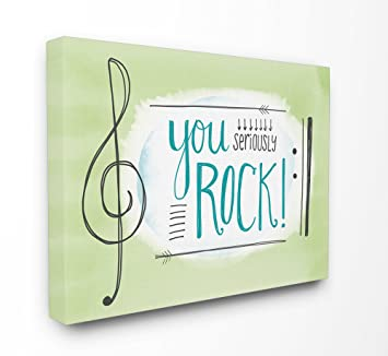 Amazon com: Stupell Industries You Seriously Rock! Music Symbols
