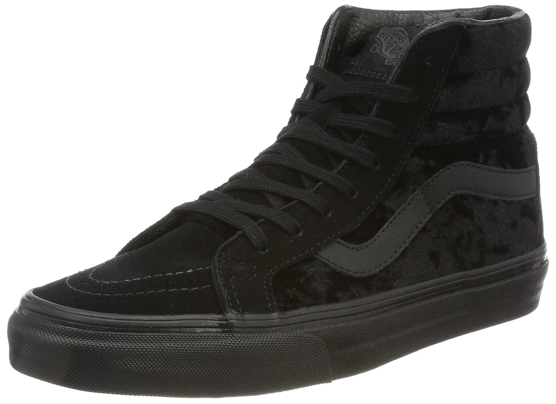 Vans Sk8-Hi Reissue, Zapatillas Para Mujer 42 EU|Negro (Velvet/ Black/Black)