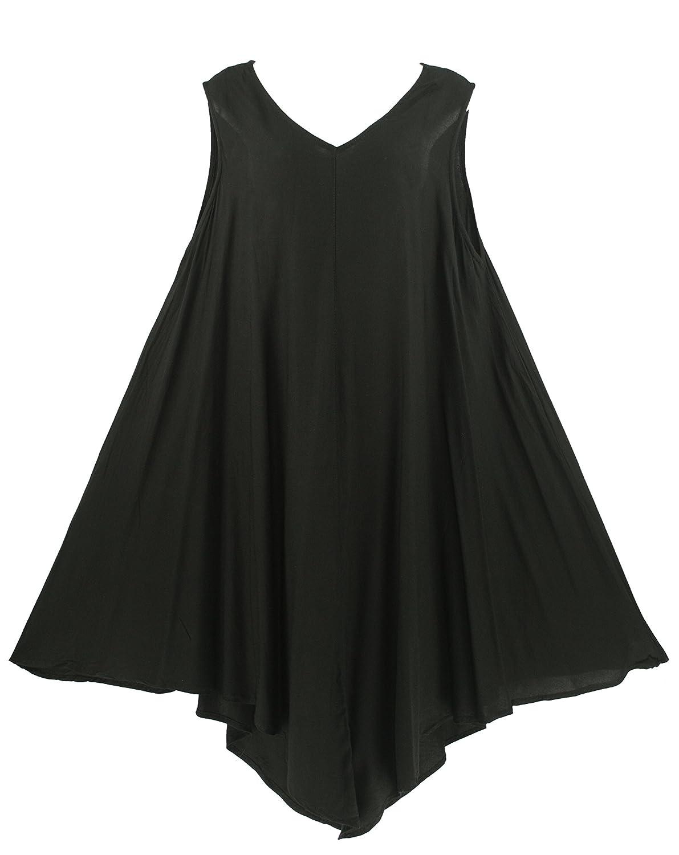 Beautybatik Lagenlook Tunika Long Tank Top Sommerkleid