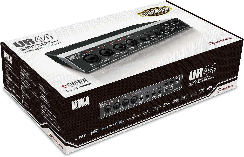 Steinberg 45030 UR44 - Interfaz de audio (4 puertos XLR, USB 2.0 ...
