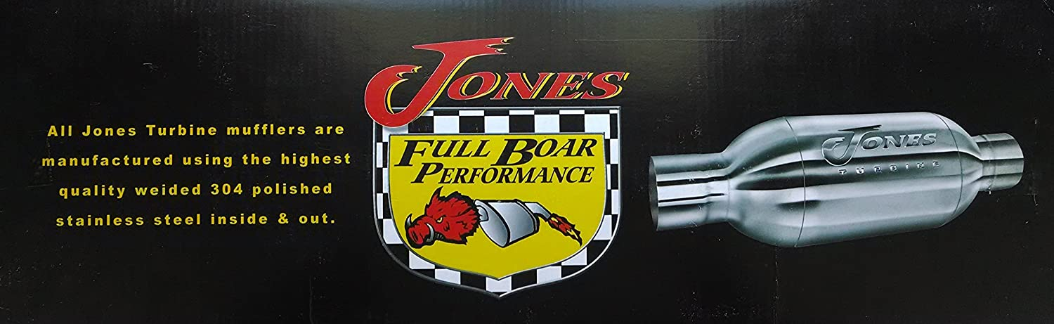 Jones Stainless Turbine JT4040 Exhaust Muffler