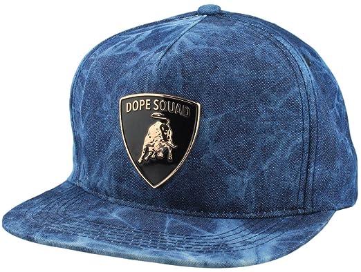 f945f1dd9f2da ... cheapest dope couture bull denim snapback cap luxury car emblem metal  plate baseball cap denim blue
