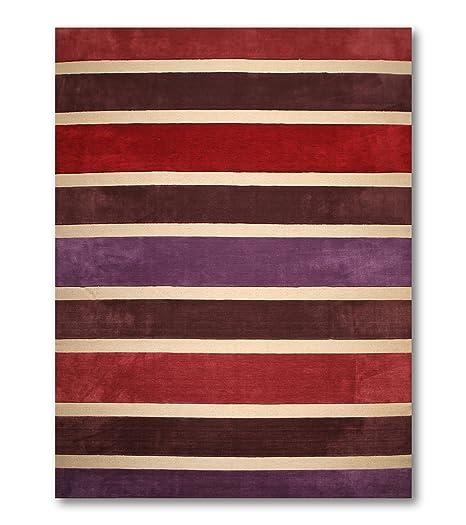 Amazon Com 10 X14 Giulia Rust Red Purple Beige Brown Handmade