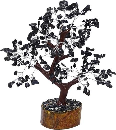 Amazon Com Harmonize Black Onyx Stone Bonsai Tree Feng Shui Reiki Healing Table Decor Home Kitchen