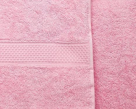 Rosa – Juego de ropa de cama algodón peinado 500 GSM Imperial toalla de mano –