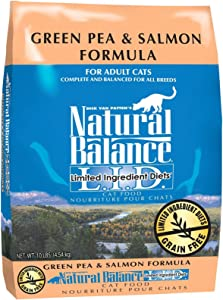 Natural Balance Limited Ingredient Diets Green Pea & Salmon Formula Dry Cat Food - 10 lb