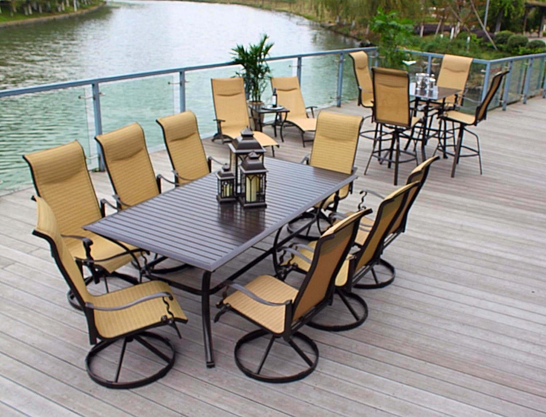 Amazon Com 10pc Cast Aluminum Patio Furniture Set With Cover