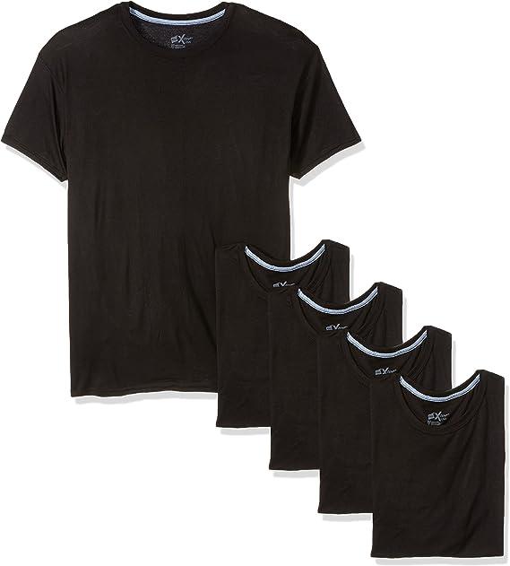 Hanes Mens 5-Pack X-Temp Comfort Cool Dyed Crewneck Undershirt L