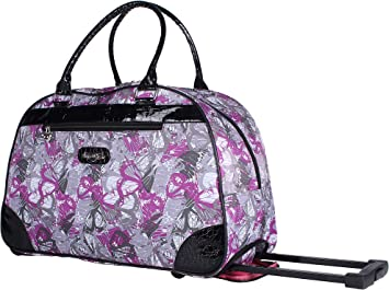 Colorful-butterflies Travel Carry-on Luggage Weekender Bag Overnight Tote Flight Duffel In Trolley Handle