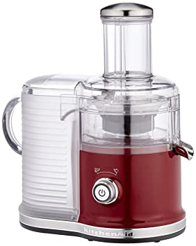 KitchenAid 5KVJ0333ECA - Exprimidor eléctrico, 500 W, color rojo y transparente: Amazon.es: Hogar