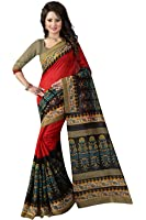 Aarvicouture Women's cotton Silk Saree With Blouse Piece