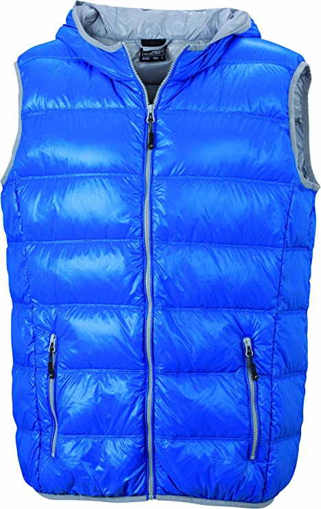 TALLA 3XL. James & Nicholson Men's Down Vest Chaqueta para Hombre