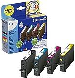 Pelikan Druckpatronen PromoPack P13 ersetzt Epson T07154010, BK PIG/C PIG/M PIG/Y PIG