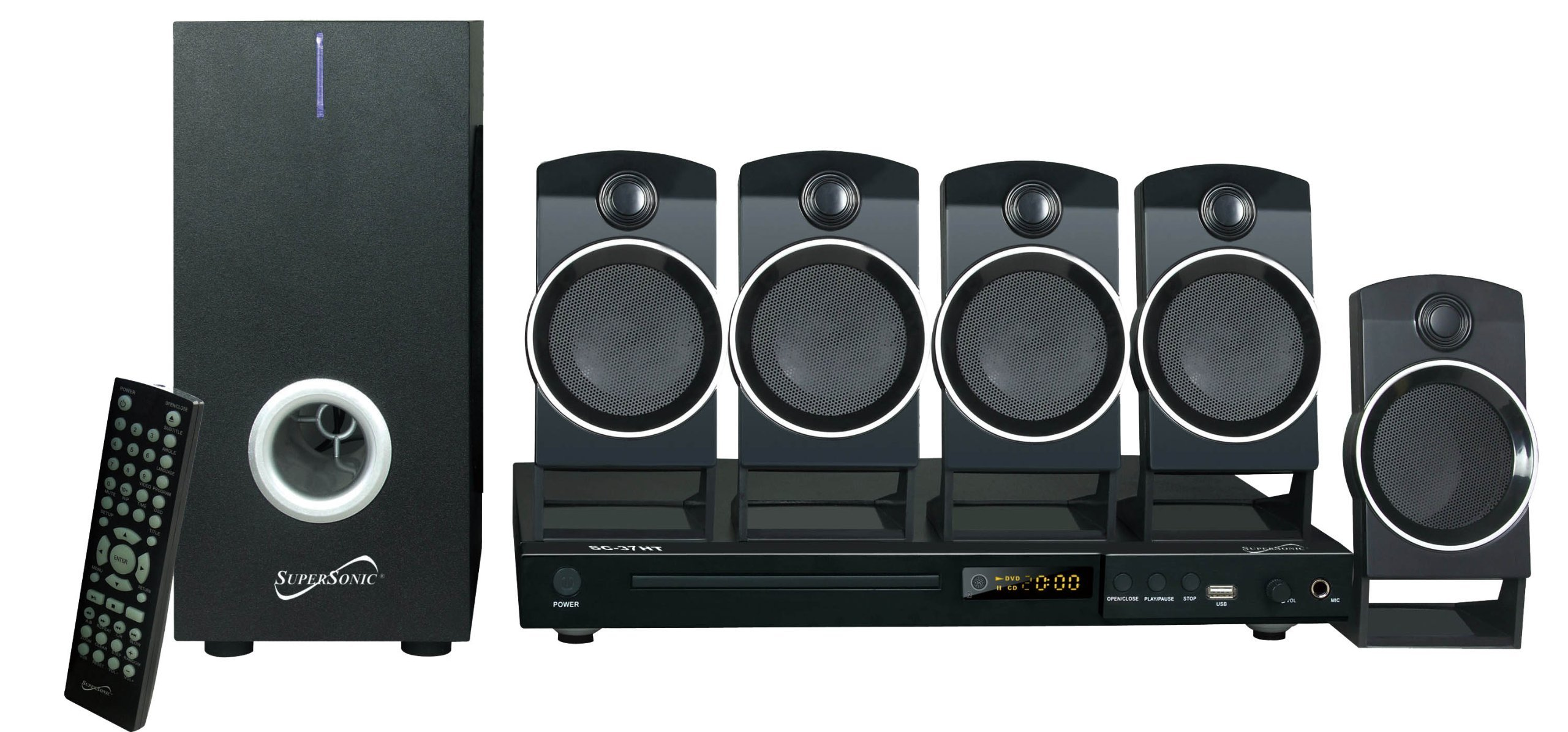 Supersonic SC37HT 5.1 Channel DVD Home Theater System by Supersonic