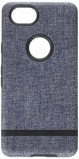 brand new 431cd 3442a Incipio Carnaby Google Pixel 2 Case [Esquire Series] with Co-Molded Design  and Ultra-Soft Cotton Finish for Google Pixel 2 - Blue