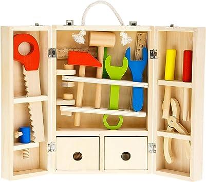 Tooky Toy – Juego de carpintero, caja de herramientas. Juguete ...