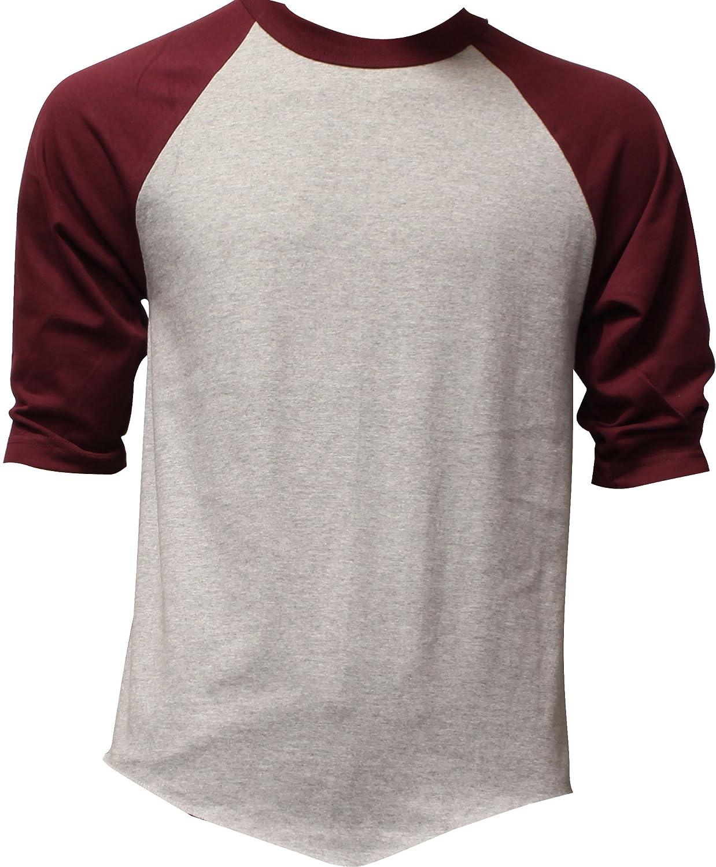 DealStock Shaka Active Casual Camo Raglan Tee 3//4 Sleeve Tee Shirt Jersey
