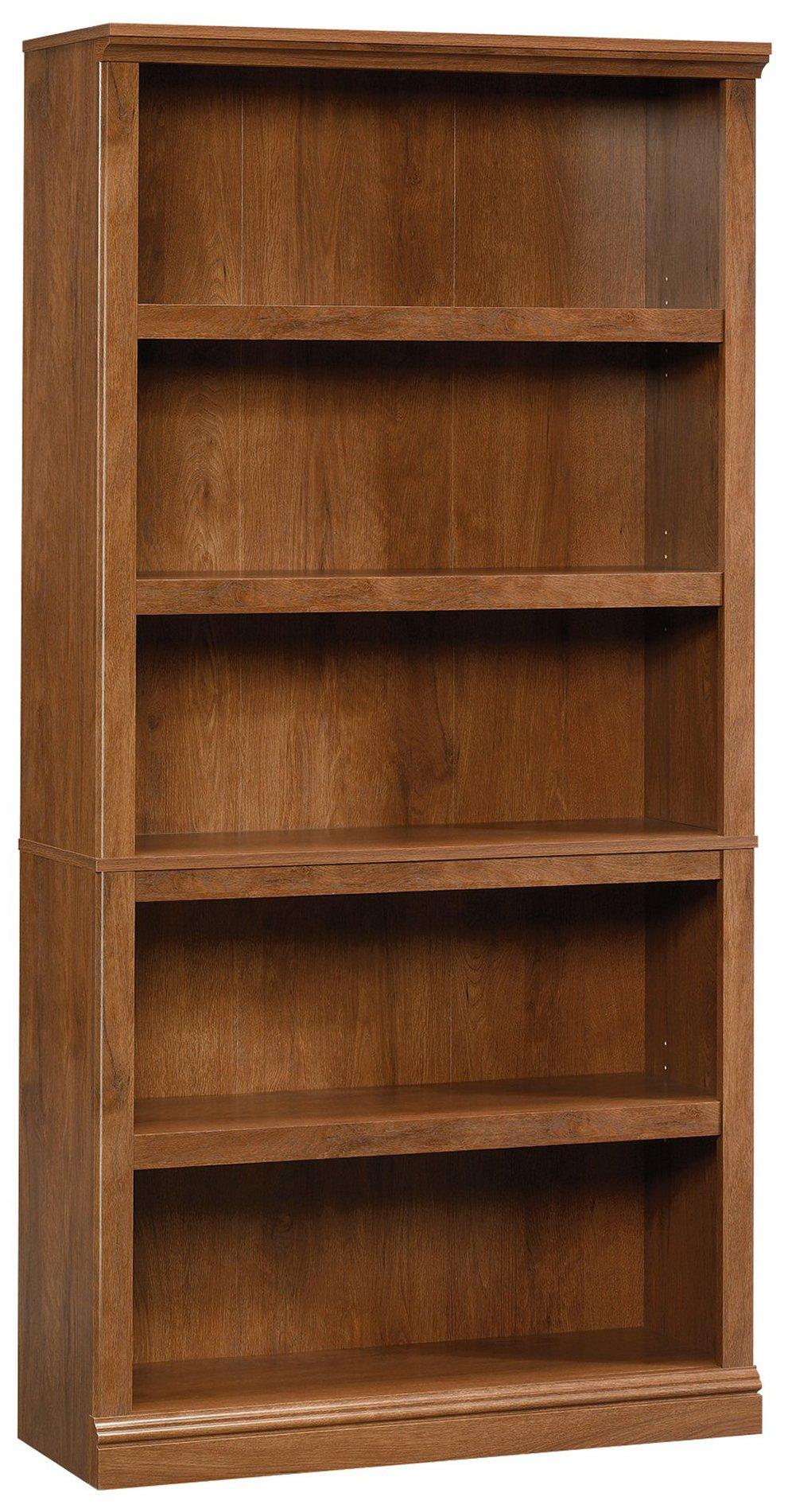 Sauder 410367 5-Shelf Split Bookcase, L: 35.28'' x W: 13.23'' x H: 69.76'', Oiled Oak finish