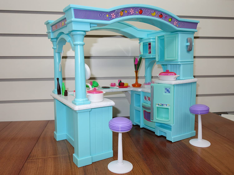 Amazon.com: Barbie Size Dollhouse Furniture - Multifunction Mega ...