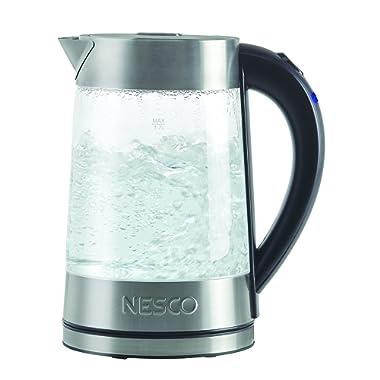 NESCO GWK-02, Electric Glass Water Kettle, Gray, 1.8 quart