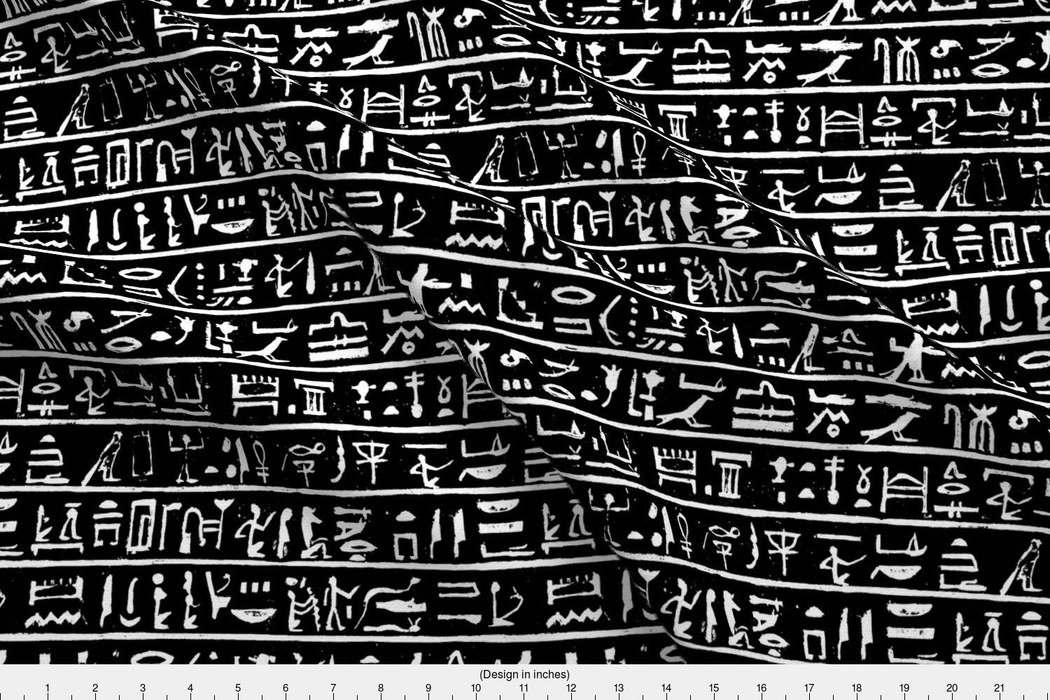 Spoonflower Ancient Egypt Fabric - Ancient Egypt Egyptian Hieroglyphics  Ancient Writing Civilization Language Ancient - by Thinlinetextiles Printed  on