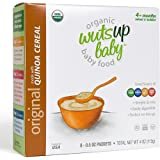 8x Organic Original Quinoa Infant & Baby Cereal Travel Packs w/Naturally Occurring Omega 3, 6, 9 Protein, Iron, Magnesium, B2. Easiest First Foods to Digest. By WutsupBaby – 4oz (8 pack x 0.5oz)