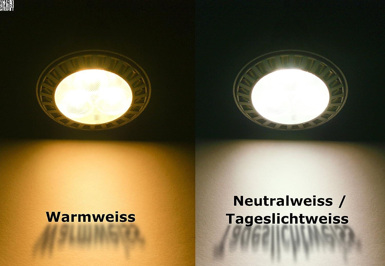 3 Pack 12 V LED de Foco empotrable para lugares húmedos