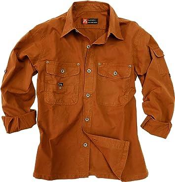 Outdoor de Safari de algodón camisa de Señor de ligero, manga larga camiseta de hasta 5 X l disponible, hombre, color Brick, tamaño small: Amazon.es: Deportes y aire libre