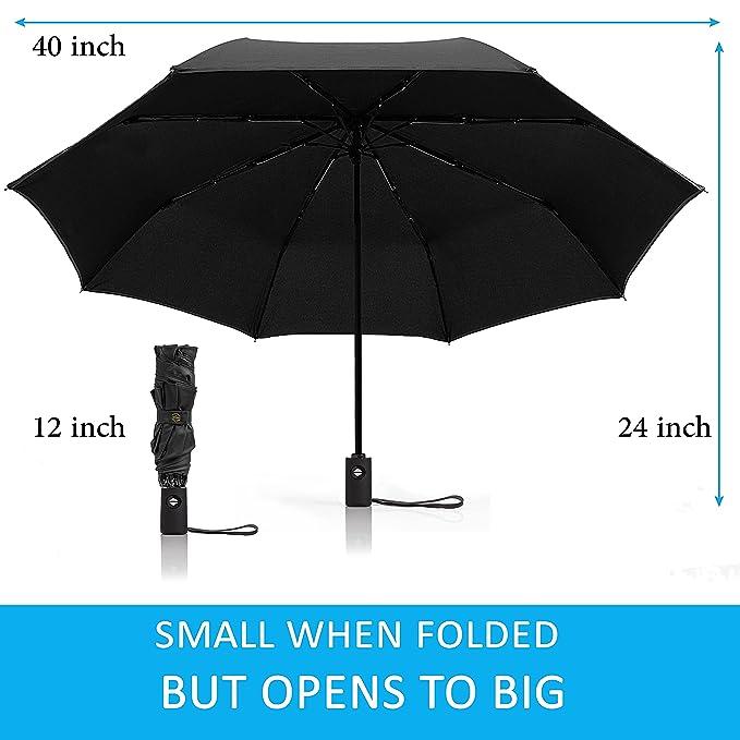 Amazon.com: Paraguas reversible, apertura y cierre ...