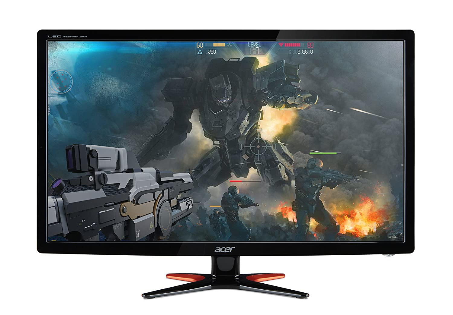 Acer GN246HL Bbid 24-Inch Full HD 1920 x1080 Widescreen 3D Gaming Monitor 144Hz Refresh Rate 1ms Response Time 1 x VGA, 1 x DVI, 1 x HDMI