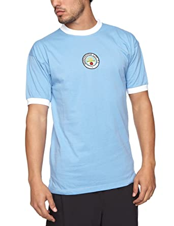 detailed look 26c6a 6eb9a Score Draw Official Retro Manchester City Mens 1972 Shirt