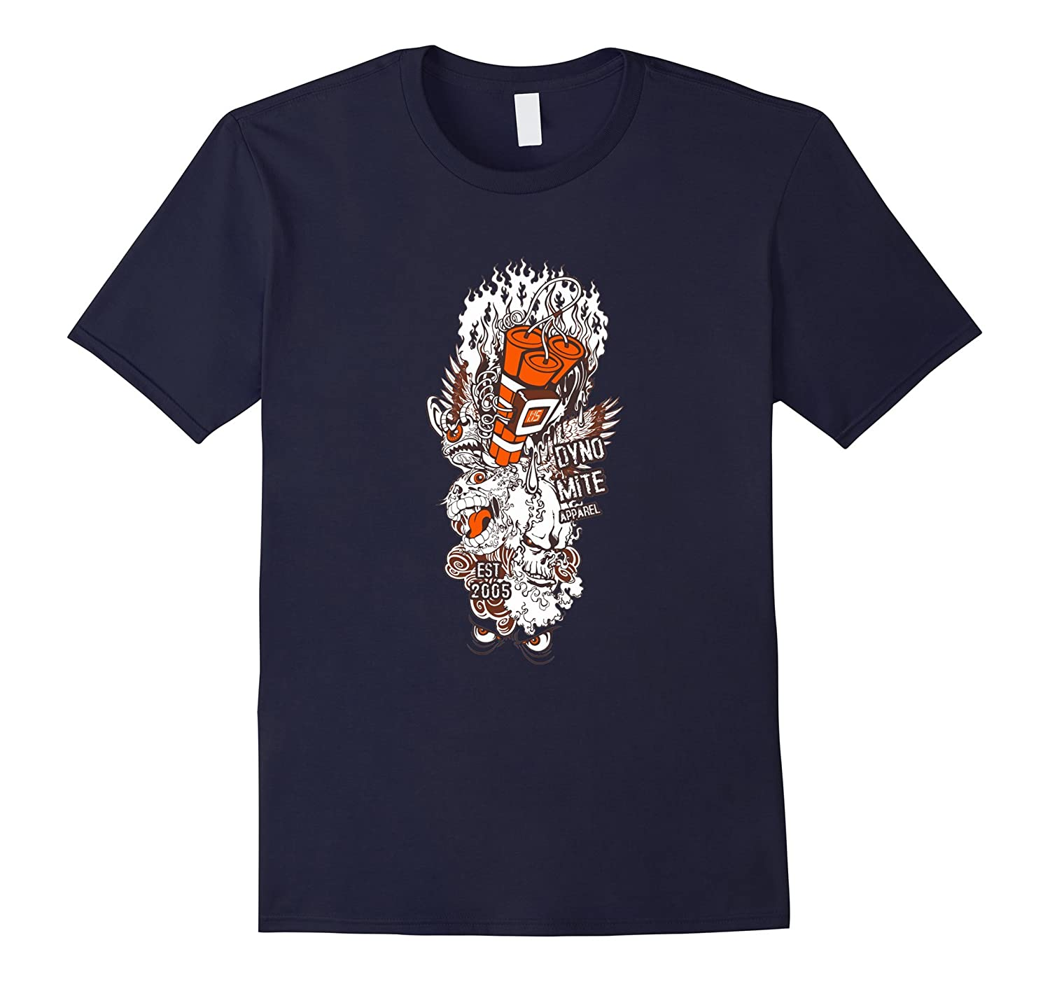 Dyno Mite Apparel T Shirts For Women Graphic Tee For Men-Art