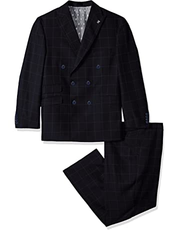 d918a81fa7d6 STACY ADAMS Men s Tall Sam Big   Tall Double Breasted Suit Mini Check