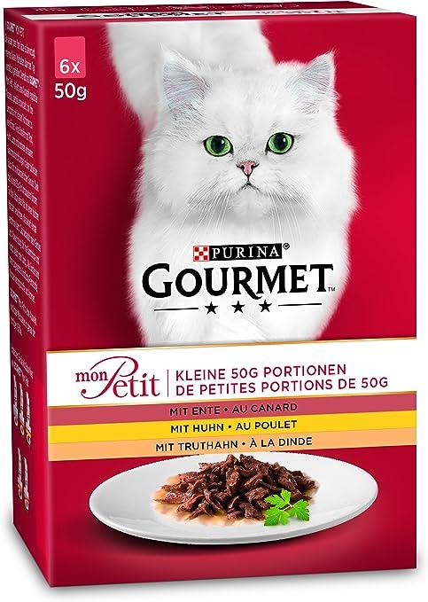 Purina Gourmet - Comida para Gatos Adultos Mon Petit, 8 Unidades (8 x 6 x 50 g): Amazon.es: Productos para mascotas