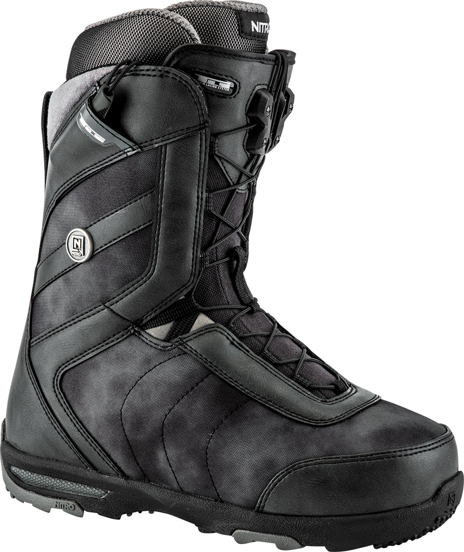 Black (Black) Nitro Lightweight Monarch TLS Women's Outdoor Snowboard Boots