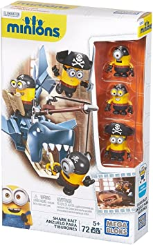 MINIONS - Juego de construcción, atrapar al tiburón (Mattel CNF54): Amazon.es: Juguetes y juegos