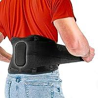 Fitgame - Cinturón de apoyo lumbar para aliviar el dolor | Ciático, hernia de disco y escoliosis para hombres y mujeres…