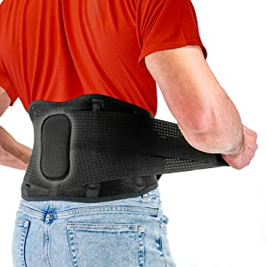Back Support Belt by FITGAME - Sciatica, Herniated Disc and Scoliosis - Back Brace for Pain Relief with Adjustable Straps and Removable Lumbar Pad (X-Large 37-42 inch)