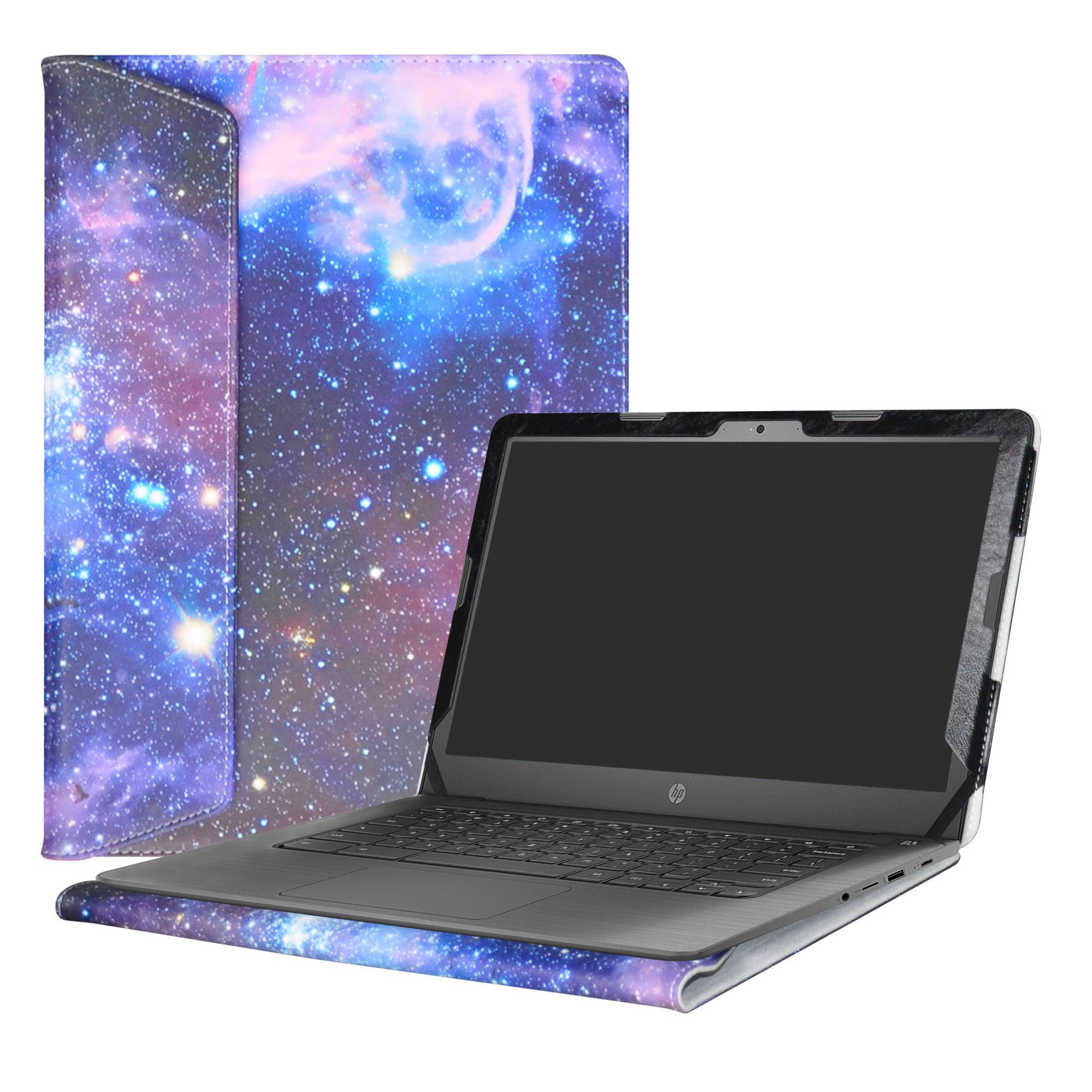 Alapmk Protective Case Cover For 14'' HP Notebook 14-bsXXX (Such as 14-bs153od)/14-bwXXX (Such as 14-bw010nr)/HP 240 G6/HP 245 G6/HP 246 G6 Laptop(Not fit 14-anXXX 14-amXXX 14-cmXXX Series),Galaxy