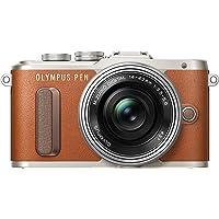 "Olympus PEN E-PL8 Kompakte Systemkamera (16 MP, elektr. Zoom, Full HD, 3"" Display, Wifi) + 14-42mm Pancake braun/silber"