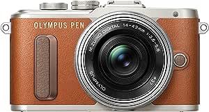 OLYMPUS PEN E-PL8 14-42mm EZ lens kit [Brown][International Version, No Warranty]