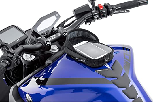 QBag – Mochila para depósito de moto con imán, 14 imanes, para smartphone/navegador, antideslumbrante, gran ventana, 2 pasacables, superficie de contacto suave, color negro: Amazon.es: Coche y moto