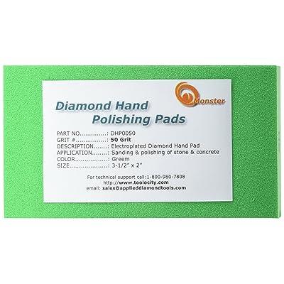 Monster DHP0050 Monster Diamond Hand Polishing Pads for Stone: Home Improvement