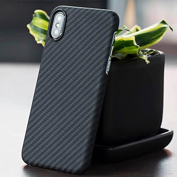 brand new 82fd0 03865 Pitaka Magcase Twill Aramid Fiber Real Body Armor Material 0.03in Ultra  Thin 0.49 Oz Super Light Strongest Durable Snugly Fit Snap-on Phone Case  for ...