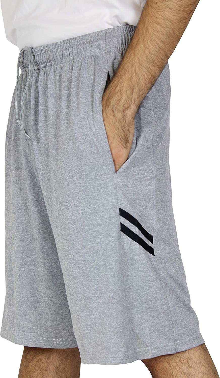 5 Pack:Mens Dry-Fit Sweat Resistant Active Athletic Performance Shorts