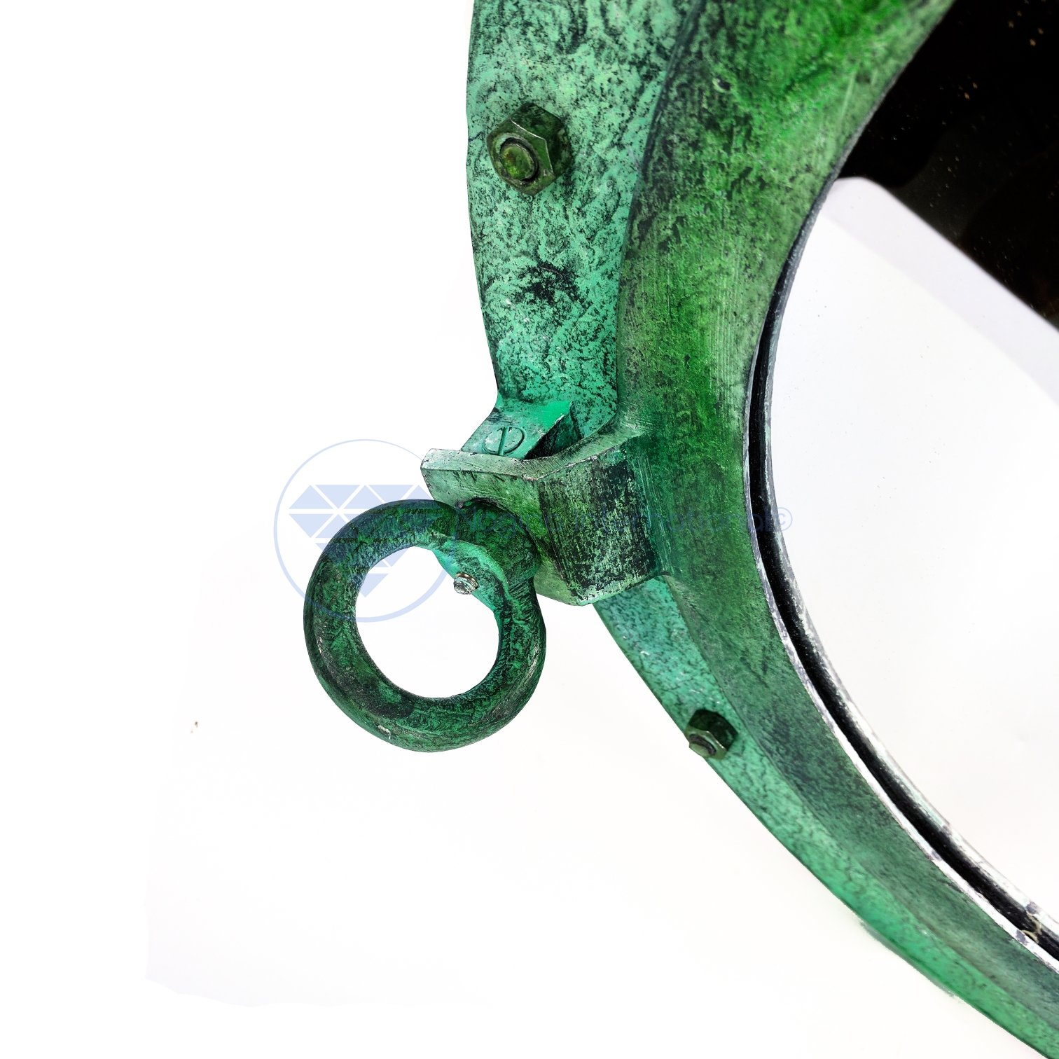 20'' Shipwrecked Premium Aluminum Antique Algae Green Porthole Mirror | Retirement Gift | Nagina International by Nagina International (Image #6)